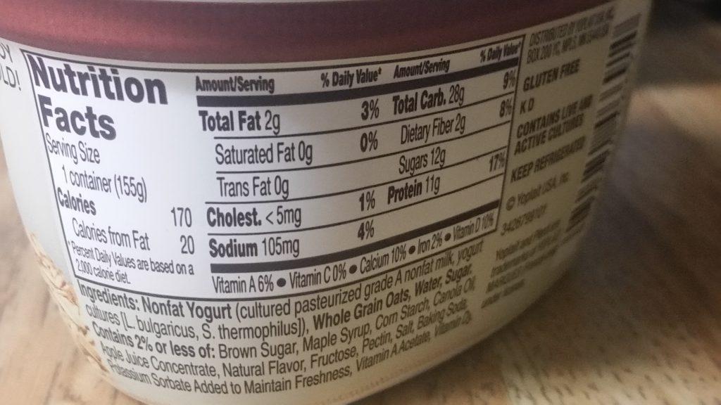 Plenti Yogurt Calories